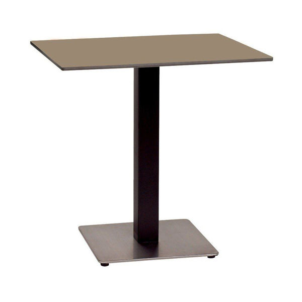 """Picture of Grosfillex 30"""" Square HPL Tabletop with Rails In Taupe Pack Of 1"""