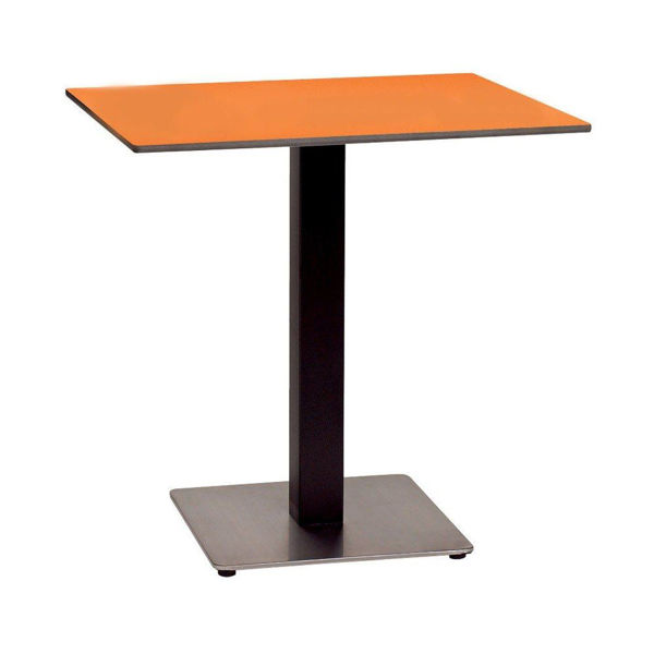 """Picture of Grosfillex 30"""" Square HPL Tabletop with Rails In Mango Pack Of 1"""