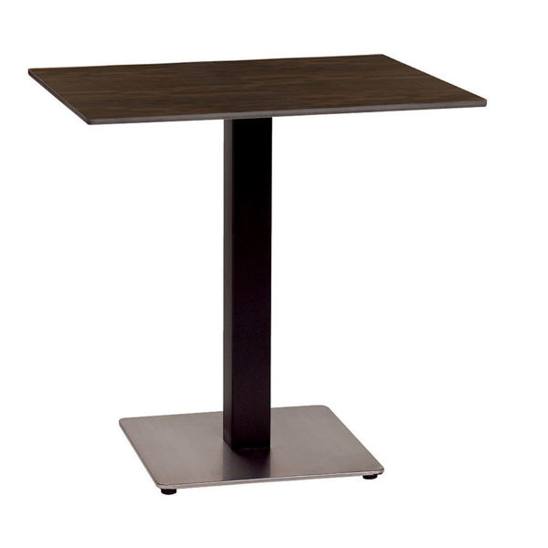 """Picture of Grosfillex 30"""" Square HPL Tabletop with Rails In Wenge Pack Of 1"""