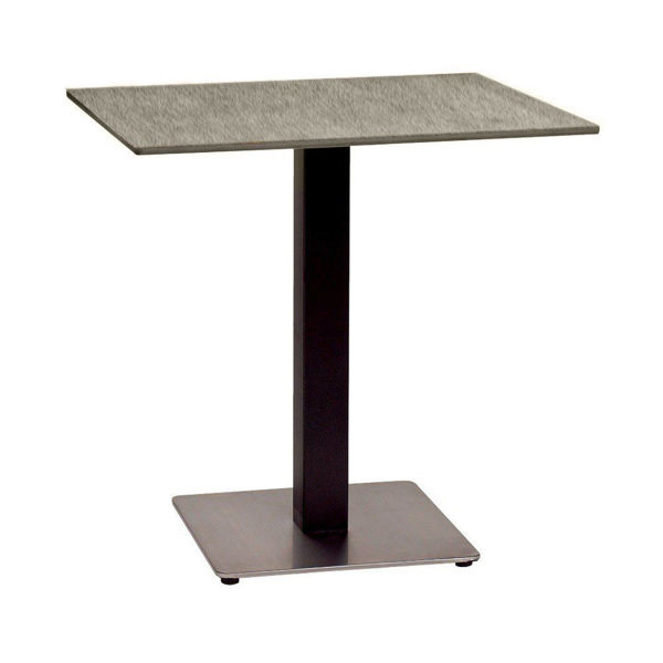 "Picture of Grosfillex 30"" Square HPL Tabletop with Rails In Grey Linen Pack Of 1"