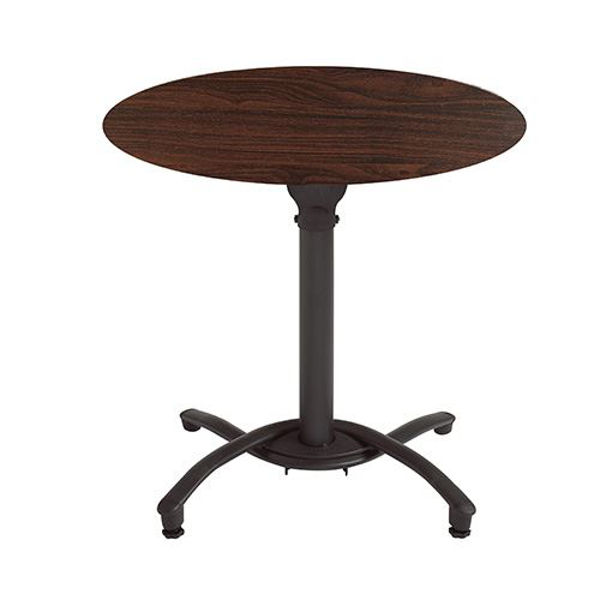 """Picture of Grosfillex 36"""" Round HPL Tabletop with Rails In Wenge Pack Of 1"""