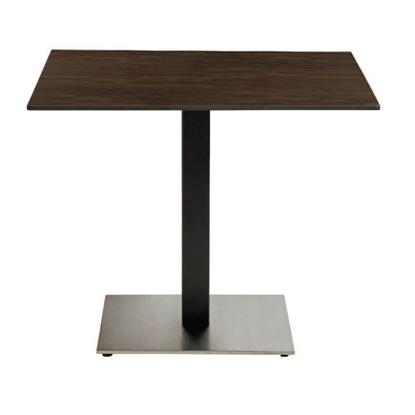 "Picture of Grosfillex 36"" Square HPL Tabletop with Rails In Wenge Pack Of 1"