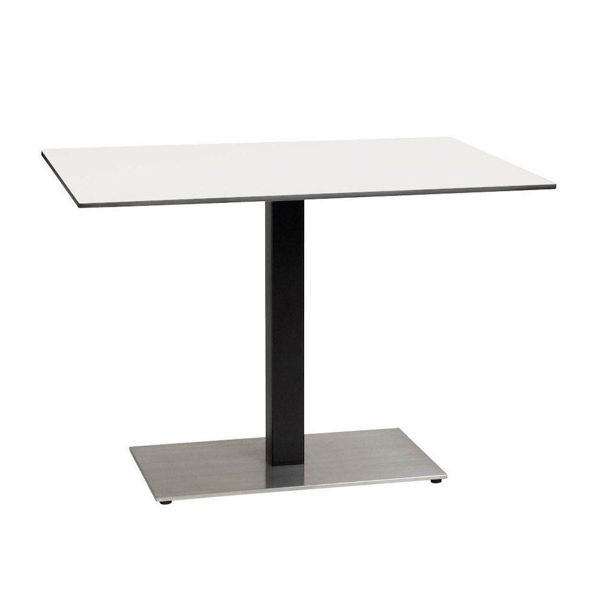 Picture of Grosfillex 30' x 42' HPL Tabletop with Rails In White Pack Of 1