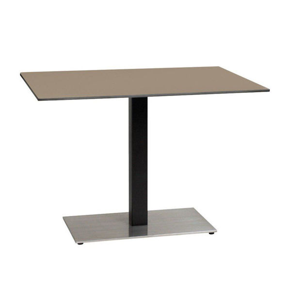 Picture of Grosfillex 30' x 42' HPL Tabletop with Rails In Taupe Pack Of 1