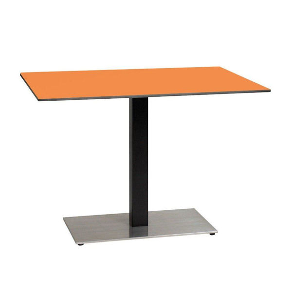 Picture of Grosfillex 30' x 42' HPL Tabletop with Rails In Mango Pack Of 1