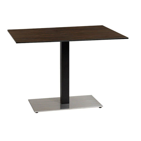 Picture of Grosfillex 30' x 42' HPL Tabletop with Rails In Wenge Pack Of 1