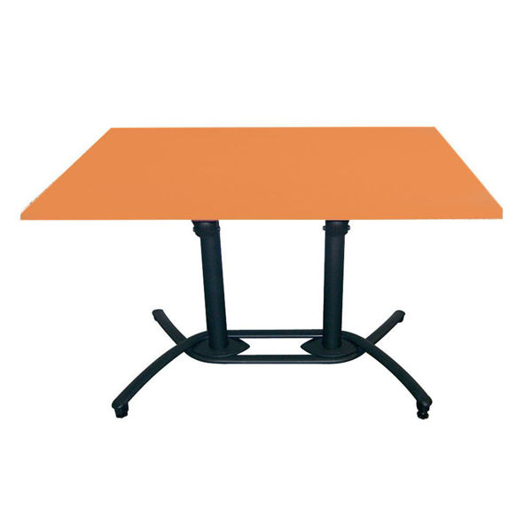Picture of Grosfillex 30' x 48' HPL Tabletop with Rails In Mango Pack Of 1