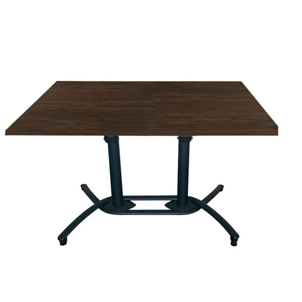 Picture of Grosfillex 30' x 48' HPL Tabletop with Rails In Wenge Pack Of 1