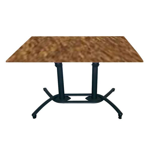 Picture of Grosfillex 30' x 48' HPL Tabletop with Rails In Copper Pack Of 1