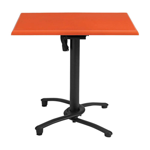 """Picture of Grosfillex 32"""" Square Molded Melamine Tabletop In Orange Pack Of 1"""