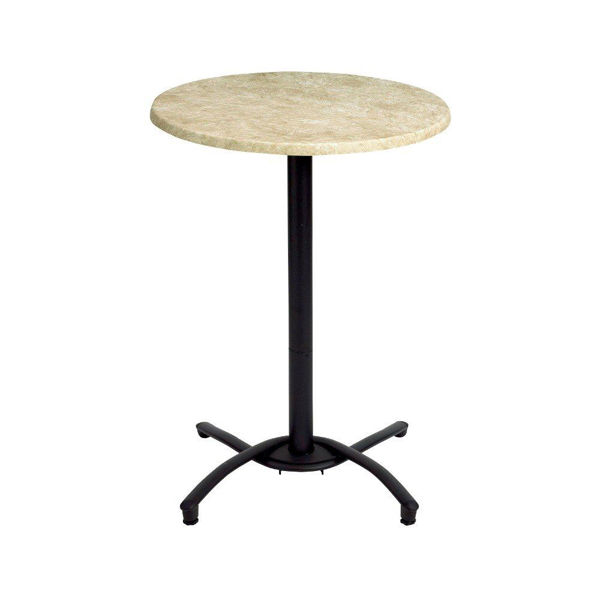 Picture of Grosfillex Bar Height Table Base In Black Pack Of 1