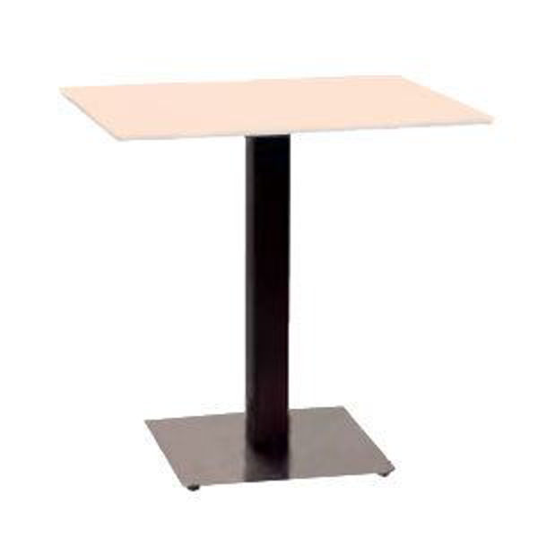 Picture of Grosfillex Contemporary Square Pedestal Base 18' x 18' In Black Column with Stainless Steel Base Pack Of 1