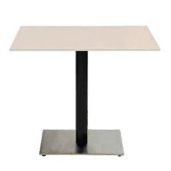 Picture of Grosfillex Contemporary Square Pedestal Base 22' x 22' In Black Column with Stainless Steel Base Pack Of 1
