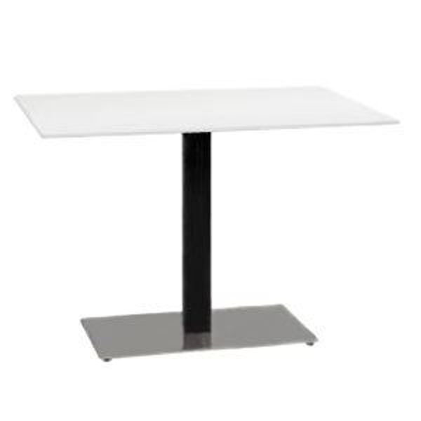 Picture of Grosfillex Contemporary Single Pedestal Base 16' x 28' In Black Column with Stainless Steel Base Pack Of 1
