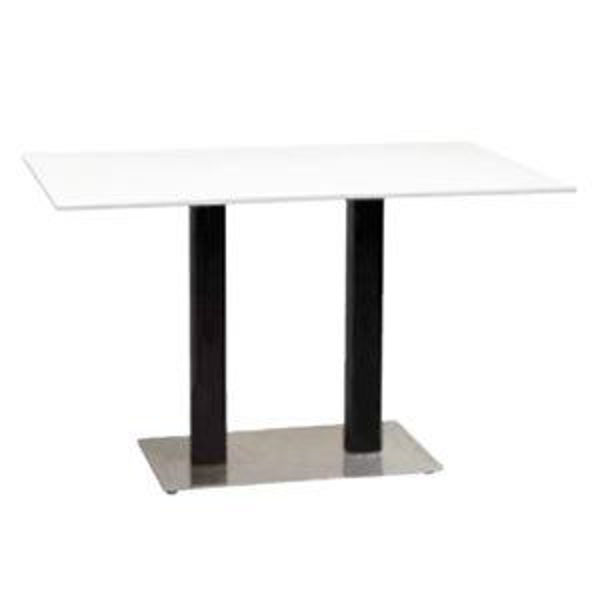 Picture of Grosfillex Contemporary Lateral Base 16' x 28' In Black Column with Stainless Steel Base Pack Of 1