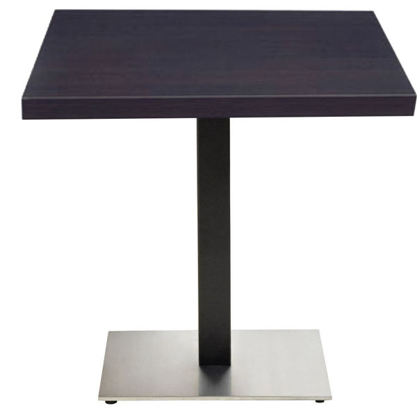 """Picture of Grosfillex VanGuard 36"""" Square Tabletop In Wenge Pack Of 1"""