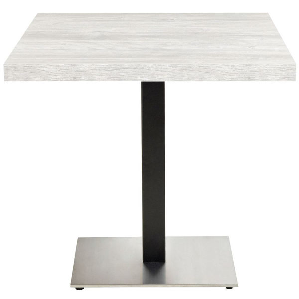 Picture of Grosfillex VanGuard 22' x 22' Square Pedestal In Black With Stainless Steel Base Pack Of 1